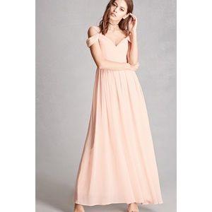 Soieblu Sweetheart Chiffon Maxi Dress